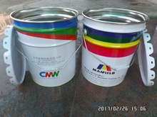 20L empty metal tin paint coating bucket with flower shape lids and metal handle