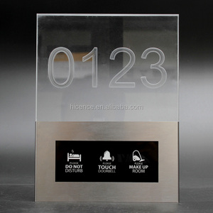 Hotel Crystal Acrylic Room Number Sign DND Doorbell