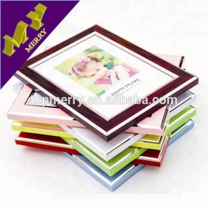 Home decoration fashion plastic picture frame / plastic photo frame designs