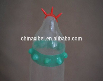 Novelty condom manufacturer pleasure oriented condoms with spikes