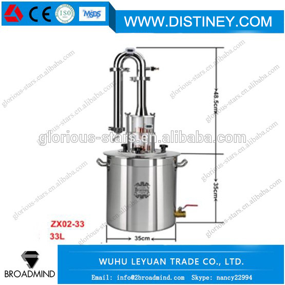 M1127 China factory wholesale mini alcohol brewing stainless steel 1bbl fermenter