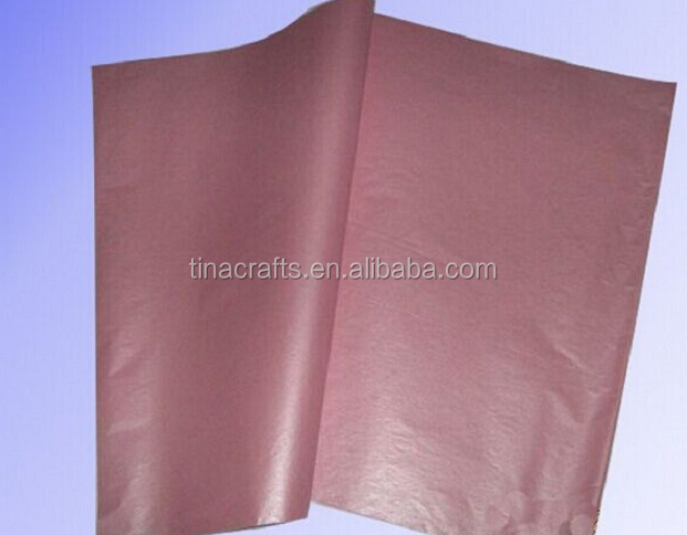 Brown tissue wrapping paper