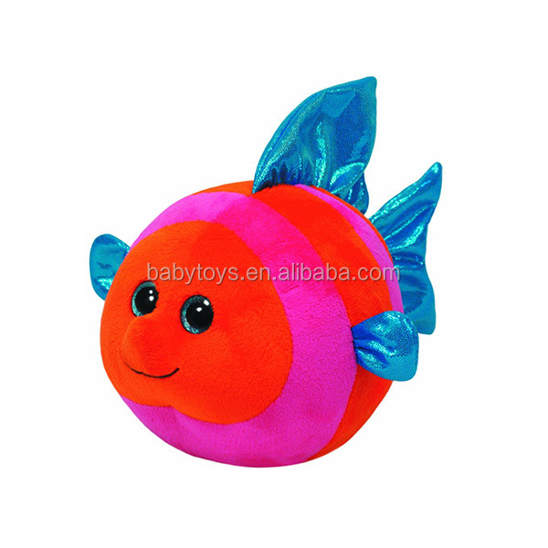 Sedex factory funny mini plush fish toy for baby gift