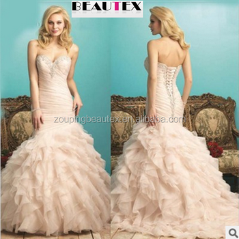 2016 high-grade fish strapless gown with