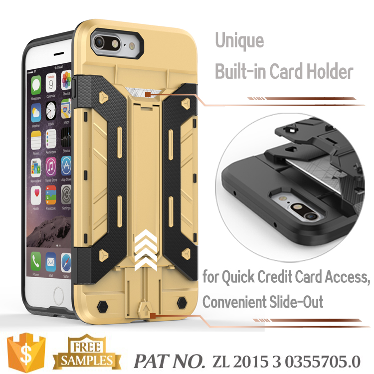 Rugged Armor Hybrid Rubber Protective Case Cover for iPhone 7 Plus