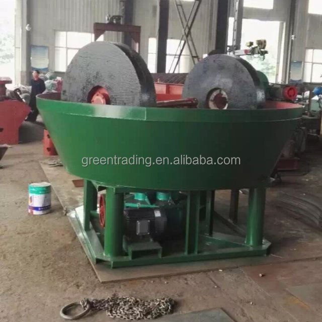 Popular in Sudan! 1200A wet pan mill, gold ore grinding wet pan mills, gold stone mill machine