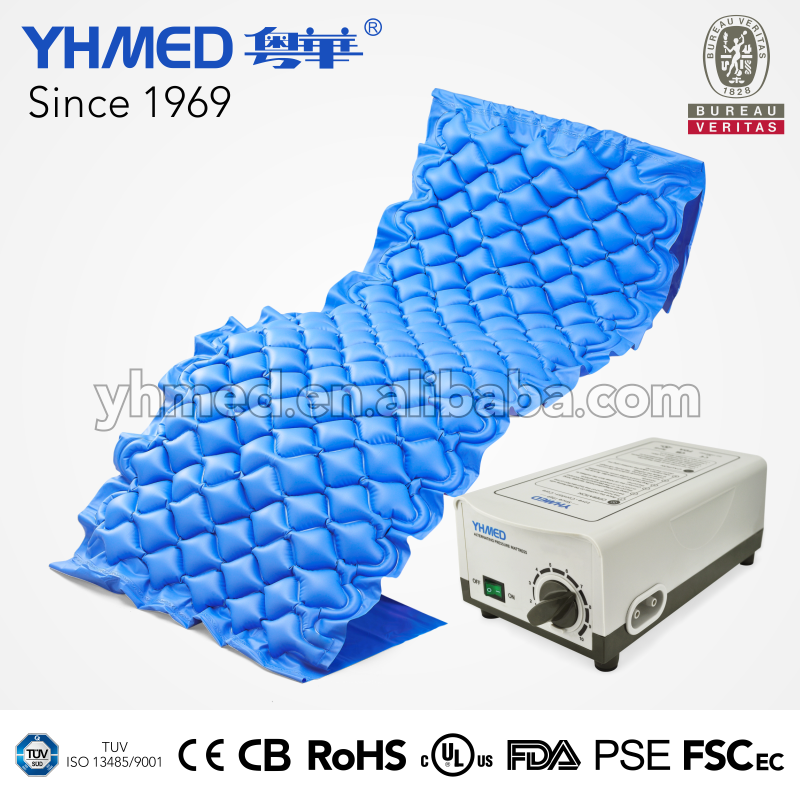 Special treatment anti decubitus blue square hospital bed air mattress