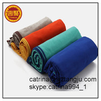 Microfiber travel sports towel embroidered fast drying compact great for yoga gym microfiber terry towel cloth