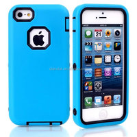3 in 1 Hybrid Rubber Impact Silicone Hard Case Mobile Phone Cover For iphone5 5SE
