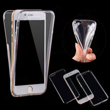 Shockproof 360 Degree Full Cover Crystal Clear Drop Resistance Case Transparent TPU Case For iPhone 6 7 8 Plus X Phone Accessory