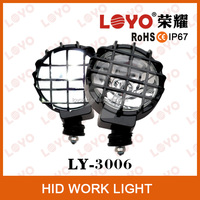 H3 6'' 4wd hid work light 12V 35W 55W spot beam 55W motorcycle hid xenon light, auto car hid xenon light