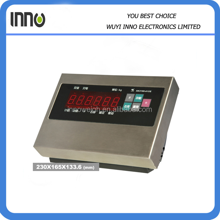 Platform indicator, A12E weighing indicator, stainless steel indicator A12E