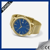 Gold watch stainless steel mens band 2016 china watch price