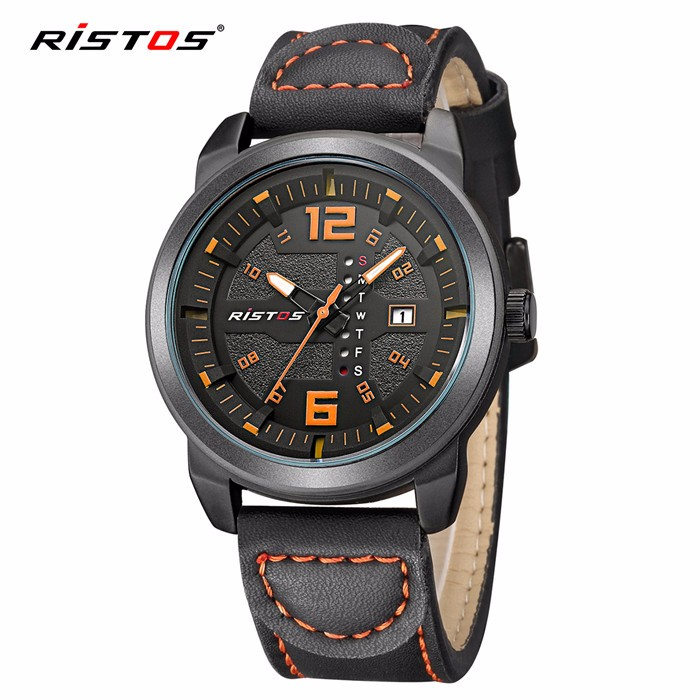 Ristos watch case for movement sample watch custom mens leather watches