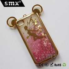 Mobile Cover Phone Case Electroplating Quicksand Phone Case For iPhone 4G