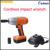 Torque controlled Li-ion battery car truck cordless electric impact wrench
