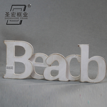 White alphabet ldecoration shower christmas wooden decoration wood letter baby
