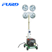 portable mobile trailer mounted led light tower with 2kw diesel generator