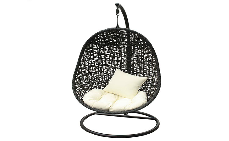 Modern outdoor garden wicker furniture hanging swing chair
