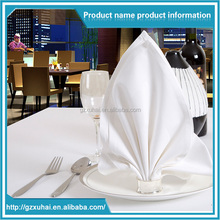 Factory Directly Sale 100% Cotton Hotel Table White Napkin For Restaurant