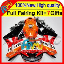 Repsol orange Body For HONDA CBR600RR CBR600 RR F5 13 14 28CL31 CBR 600RR 600 RR 2013 2014 Injection 13-14 Fairing Red black