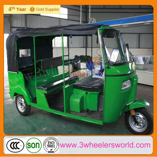 China Supplier 6 passengers Bajaj Closed Cabin Tricycle Passenger Motorcycle /Electric Scooter 3 Wheel