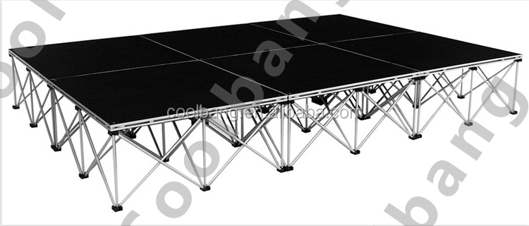 "24"" riser non slip movable light weight portable performance stages for sale"