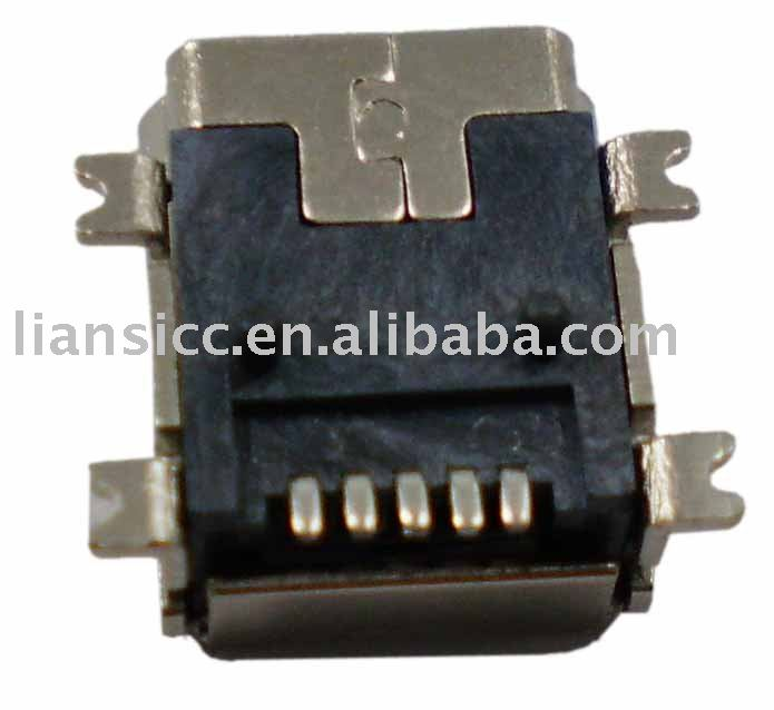 Mini 5pin female B SMD type USB connector