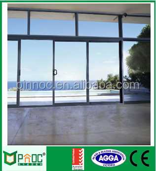 Energy Saving Aluminum Sliding Door with Different Panels and Designs and Colors