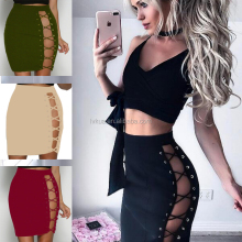 2017 Hot Sale Mature Girls Women Evening Party Sexy Split Bandage Skirt