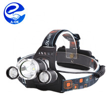 new style 3xT6 rechargeable led head lamp 3 T6 and R2 LED Head Lamp 6000 Lumens