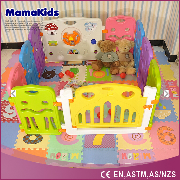 luxury plastic baby square child playpen