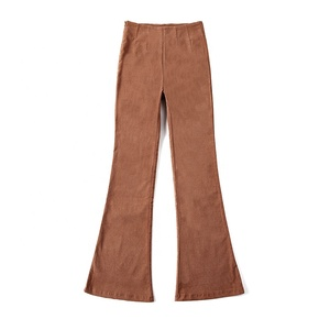 B1P0140 Supply Cross-border Loose Retro High Waist Flared Corduroy Casual Pants
