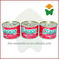 Competitive price tomato paste price ton repacking in 210gx48tins