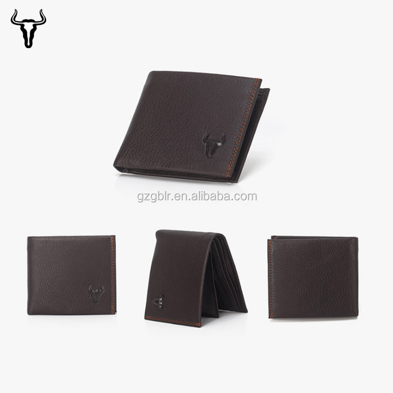 Leather Material and Men Gender Business Card Holder Money Clip Wallets
