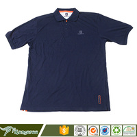Custom made worker dark blue polo t shirt factory