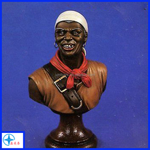 Afro-American resin bust for decotation