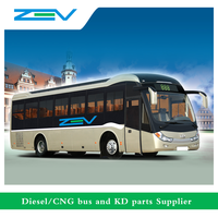 ZEV 8 meters luxury coach VIP bus 45 seats Euro 3 diesel/cng bus