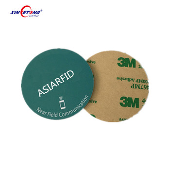 ISO 14443 13.56Mhz Small Dia 13 MM 20mm Programmable rfid coin tag for warehouse management