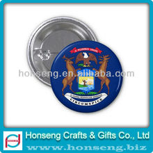 Promotional Tin Button Badge with safety pin