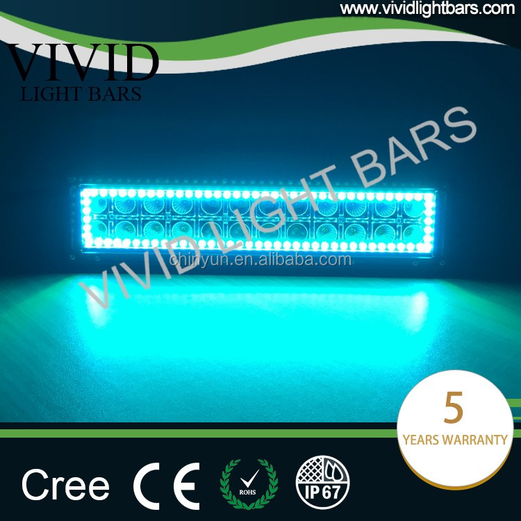 Wholesale light bar 13.5 inch 75w led work light with rgb halo ring controlled by wireless remote for all cars