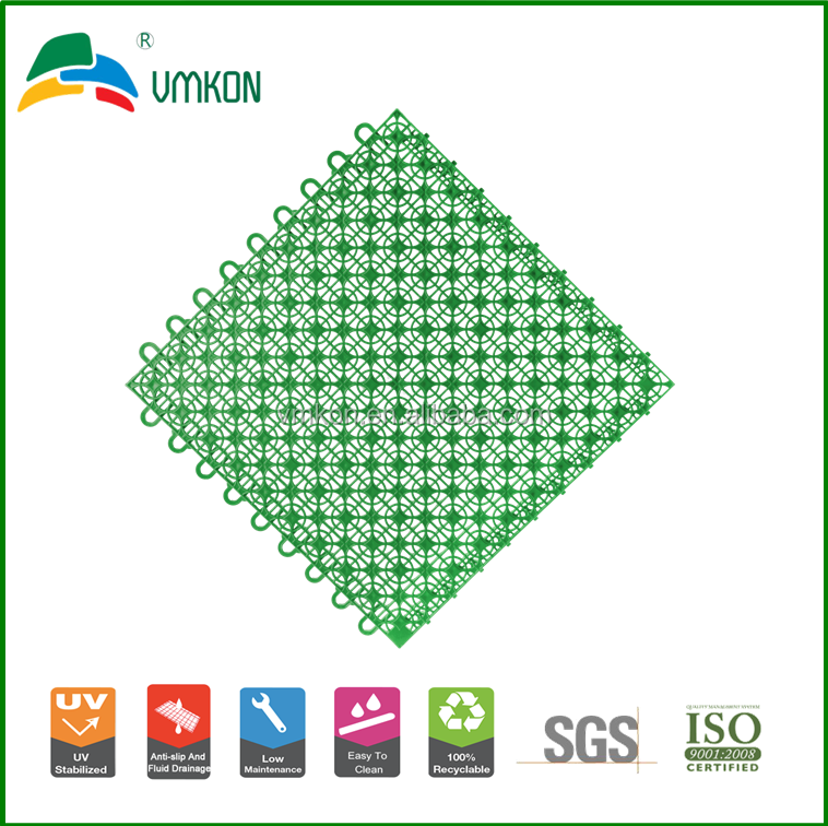 vmkon modular interlocking tiles alternative flooring of artificial grass vsa-333310