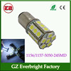 S25 car led 1157 1156 5050 led 24smd Backup LED, Reversing light, flashing brake light