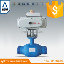 TKFM supplier flange connection class 300 rising stem ball valve with resilient seated