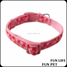 Collar Dog Embossed Nylon Pet Collar