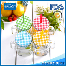 food grade 304 stainless steel mason jar lid with hole for straw wholesale