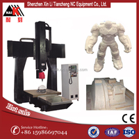 High quality ATC cnc router 3d 5 axis cnc wood carving machine with Italy control system
