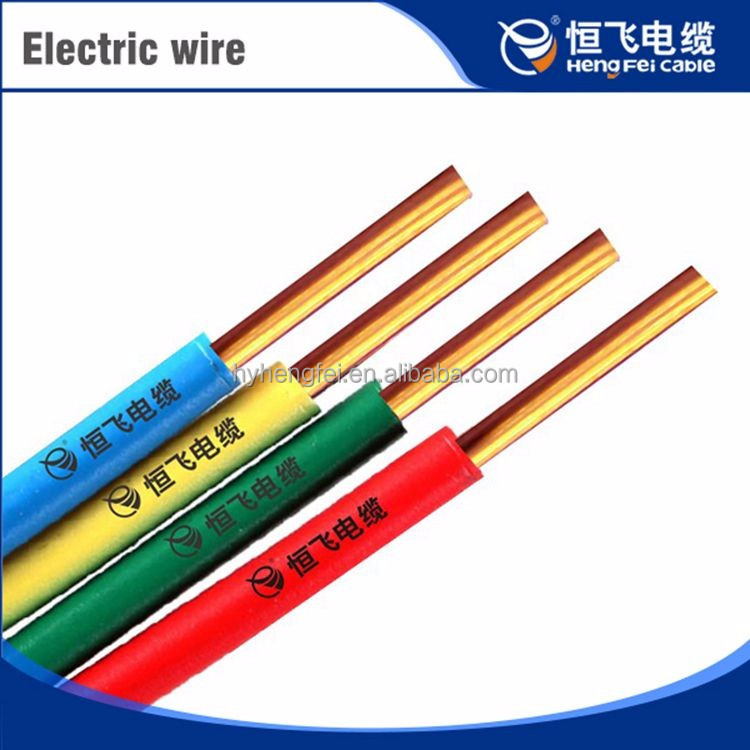 Popular Colorful Copper Conductor Pvc Compound 16mm Cambodia Electric Cable And Wire