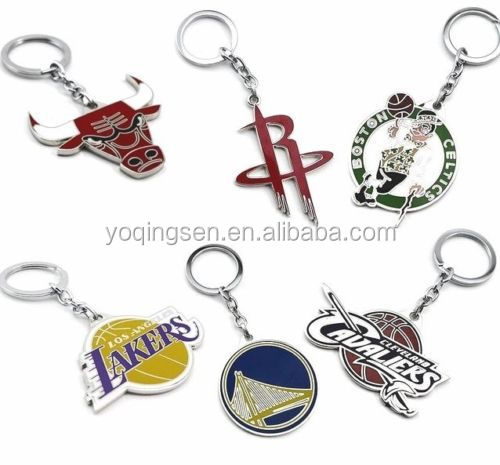 New NBA BASKETBALL LOGO Metal Lakers Warriors Rockets KEY CHAINS KEY RINGS GIFTS