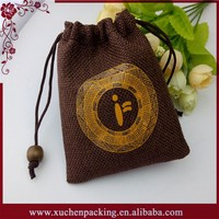 Factory Price Small Size Recyclable Drawstring Wholesale Wedding Jute Burlap Favor Bags